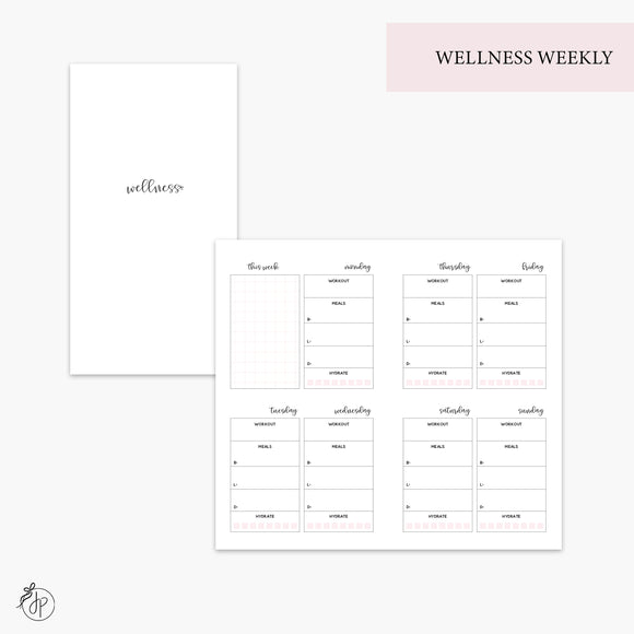 Wellness Weekly Pink - Personal TN