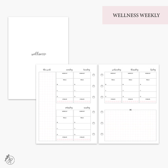 Wellness Weekly Pink - B6 Rings