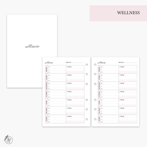 Wellness Pink - A6 Rings