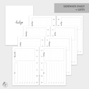 Sideways Daily + Lists - Pocket Rings