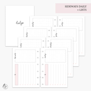 Sideways Daily + Lists Pink - Pocket Rings