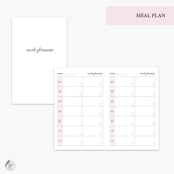 Meal Plan Pink - Pocket TN