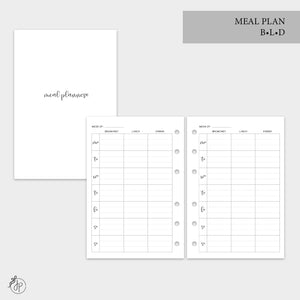 Meal Plan BLD - A6 Rings