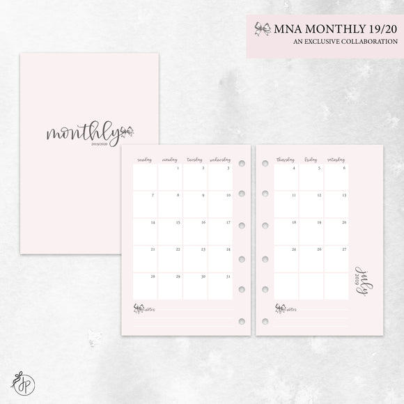 MNA Monthly 19/20 Pink - Pocket Rings