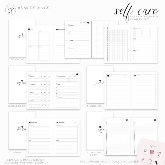 Self Care - A5 Wide Rings