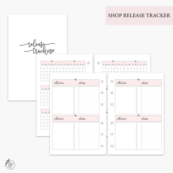 Shop Release Tracker Pink - A6 Rings