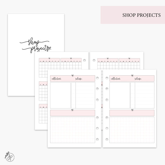 Shop Projects Pink - A6 Rings