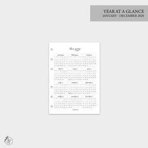 Year at a Glance 1 PG 2020 - A5 Rings