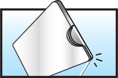 2.Pull the floss down and <br />cut inside Flossbox.