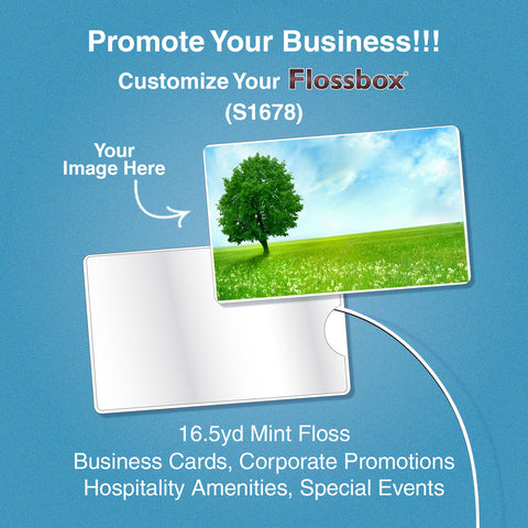 PROMOTE YOUR BUSINESS WITH FLOSSBOX (BOX OF 100)