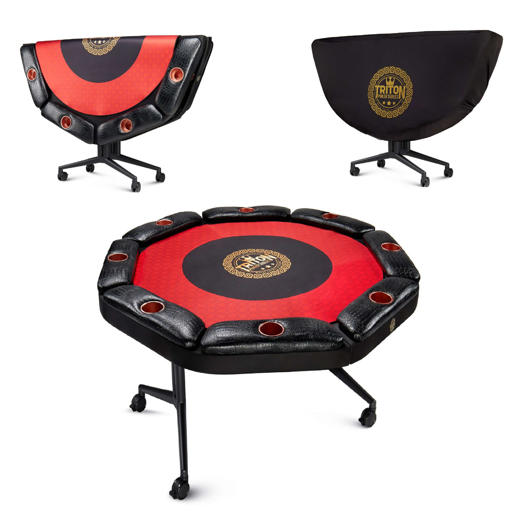 Triton Classic Folding 8 Player Poker Table