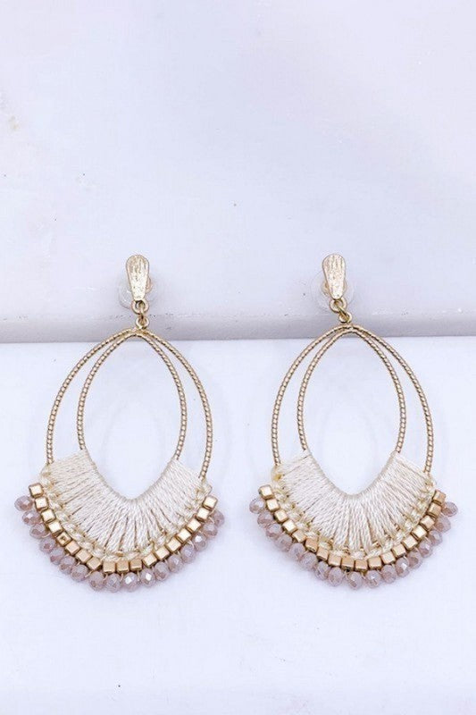 Threaded Statment Earrings