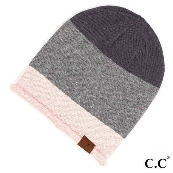Colorblock Slouchy Beanie
