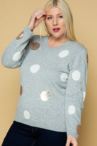 Sequins & Polka Dots Plus Sweater