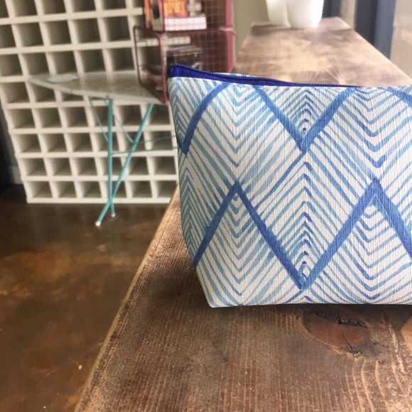 Blue Chevron Bag