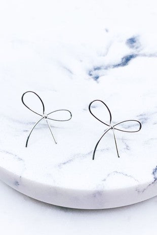 Dainty Ribbon Bow Earrings