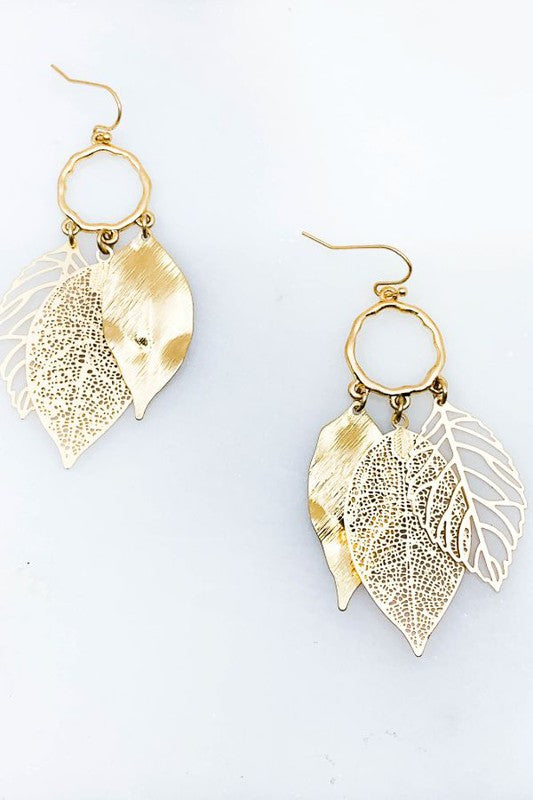 Leaf Pendent Earrings