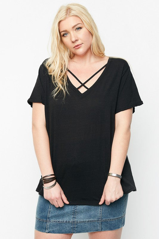Plus Criss Cross Tee