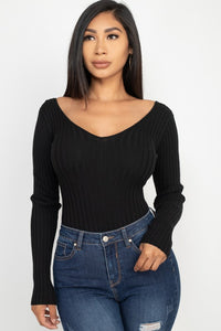 Ribbed Long Sleeve Body Suit