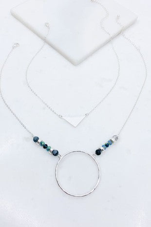Triangle & Hoop Necklace
