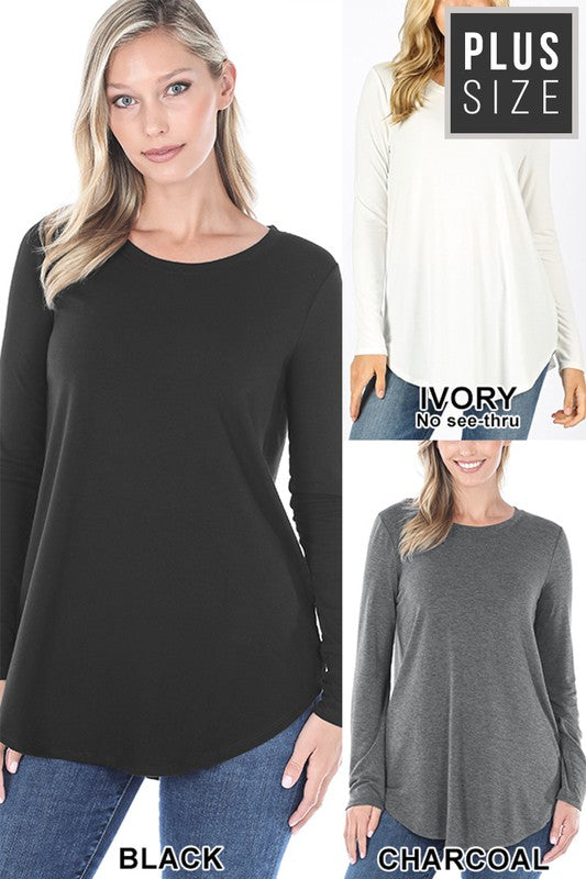Plus Luxe Long Sleeve Basic