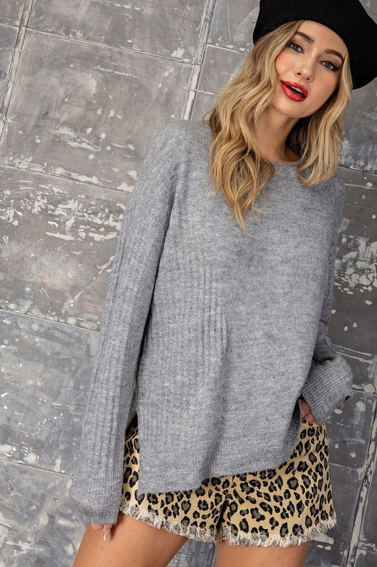 Sofia Ribbed Knit Sweater