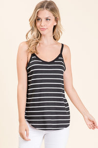 Casual Stripe Tank Top