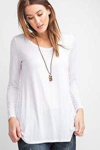 Basic Solid Tunic Top