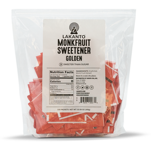 Monkfruit Sweetener Morena de 30 sobrecitos