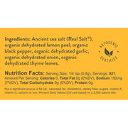 Sazonador Real Salt Organic Lemon Pepper