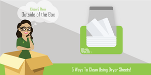 5 ways to Clean Using Dryer Sheets