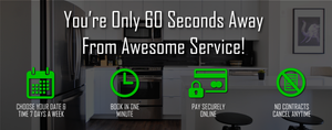 60 Second Booking Cleaning Service