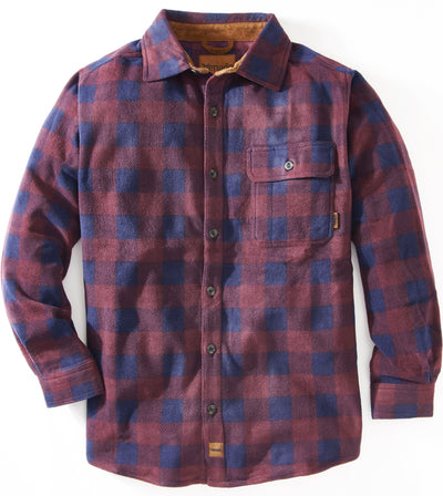 Bonfire Plaid Fleece Shirt Shirts Venado Small Maroon
