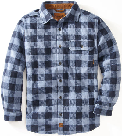 Bonfire Plaid Fleece Shirt Shirts Venado Small Sky