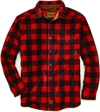 Bonfire Plaid Fleece Shirt Shirts VenadoInc Small Classic Red