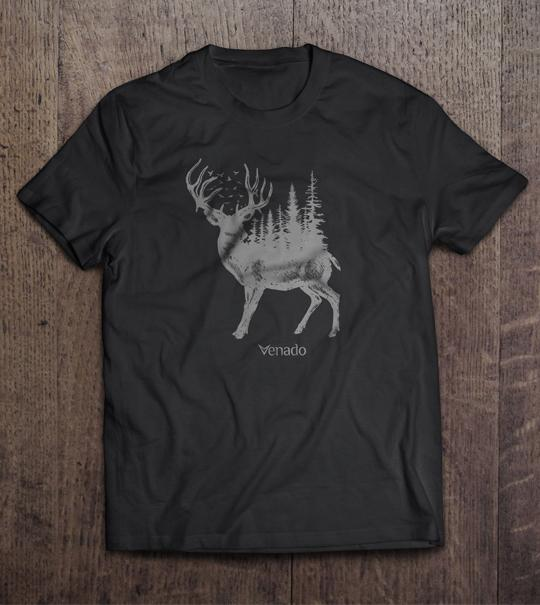 Forest Buck Short Sleeve Tee Mens Shirts Venado