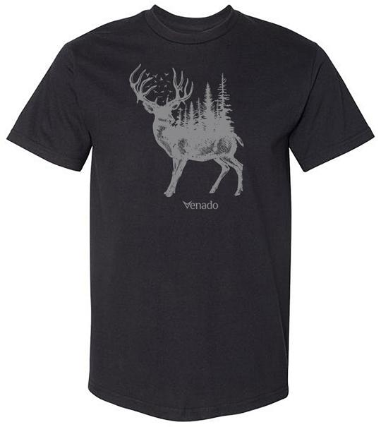 Forest Buck Short Sleeve Tee Mens Shirts Venado Small