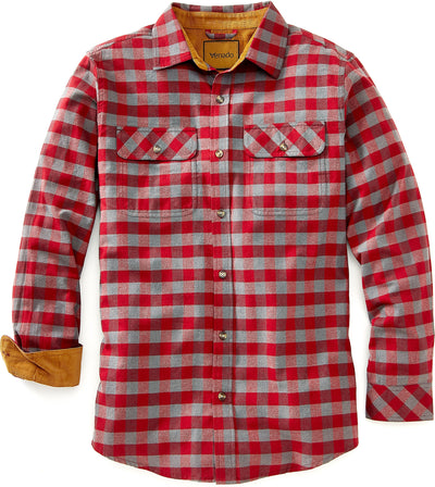 Full Draw Flannel Shirt Shirts Venado Small Charcoal Red