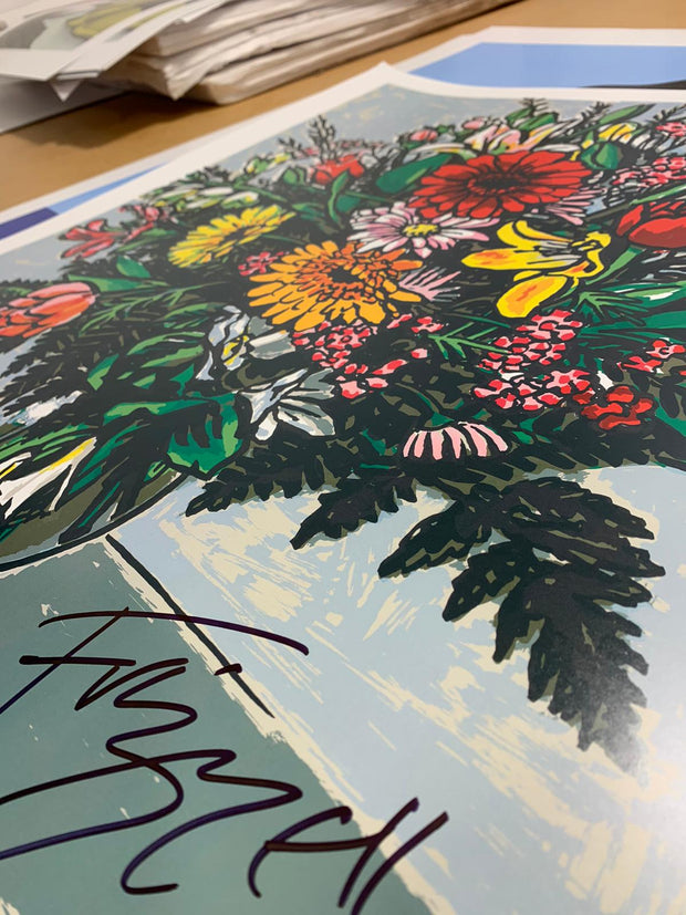 Signed Big Bunch print by Dick Frizzell (Perfectly Imperfect)