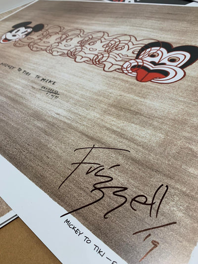 Signed Mickey to Tiki by Dick Frizzell (Perfectly Imperfect)