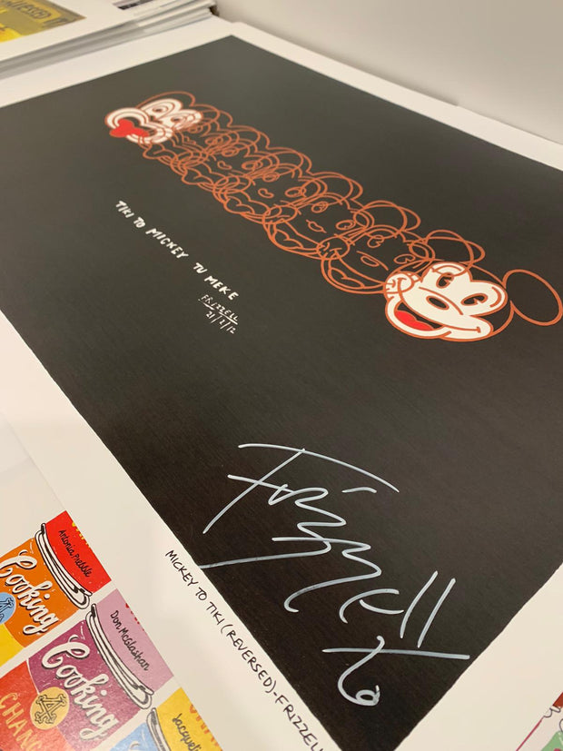 Signed Mickey to Tiki Reversed by Dick Frizzell (Perfectly Imperfect)