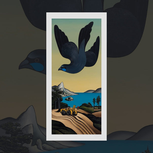 Last Flight of the Kokako print by Don Binney