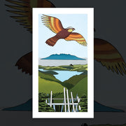 """Kaiarara Kaka, Great Barrier"" art print by Don Binney"