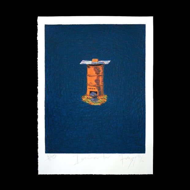 Incinerator – Limited Edition Screenprint by Dick Frizzell