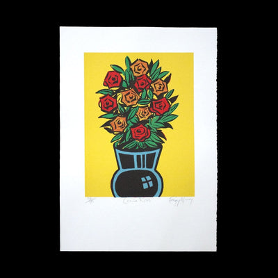 Comic Roses – Limited Edition Screenprint by Dick Frizzell
