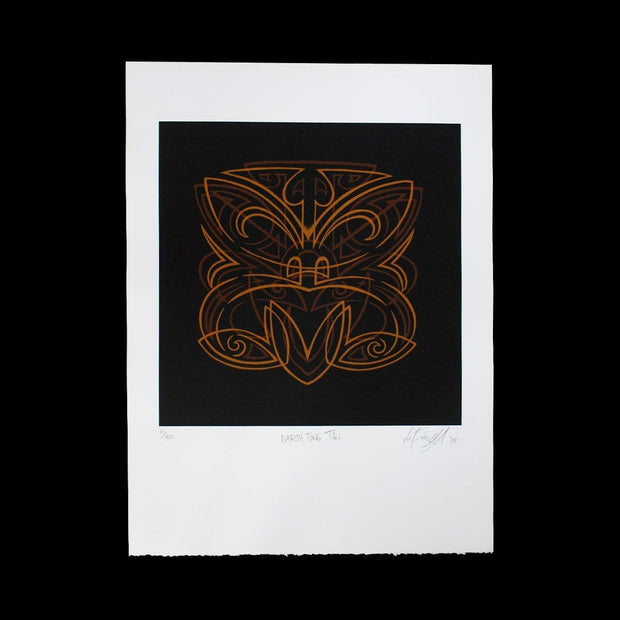 Earth Tone Tiki - Limited Edition Screenprint by Otis Frizzell