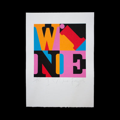 I Heart Wine – Limited Edition Screenprint by Dick Frizzell