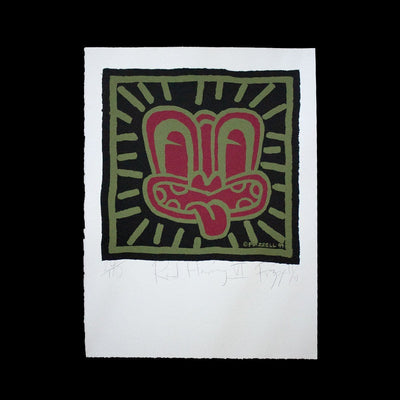 Red Haring VI – Limited Edition Screenprint by Dick Frizzell