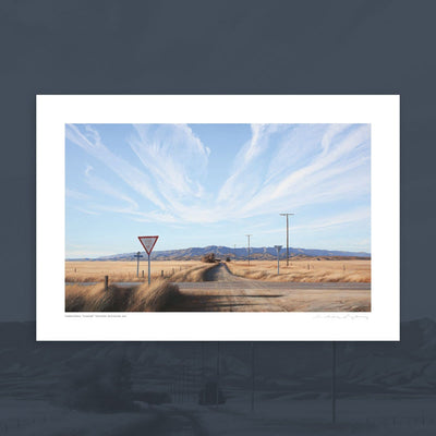 """Crossroads"" signed print by Grahame Sydney"
