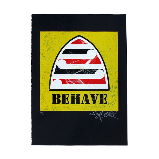 Behave (Yellow) - Limited Edition Screenprint by Weston Frizzell